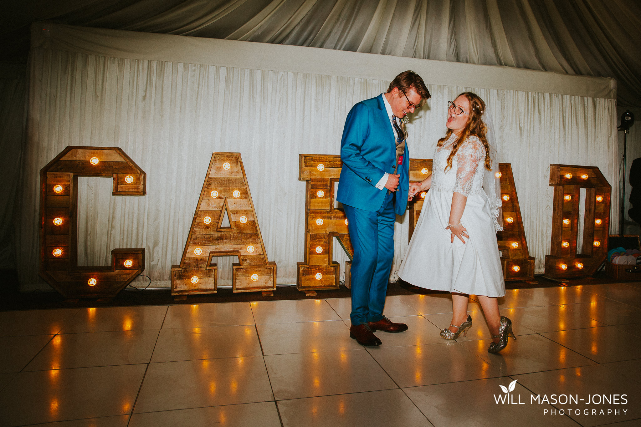 colourful fun evening reception oxiwch bay hotel wedding photography swansea