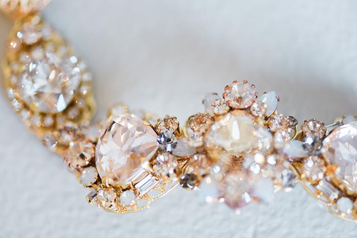 Gold and Champagne Crystal Bridal Sash