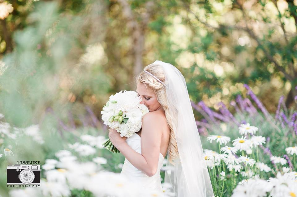 Romantic Garden Bride with a Long Veil