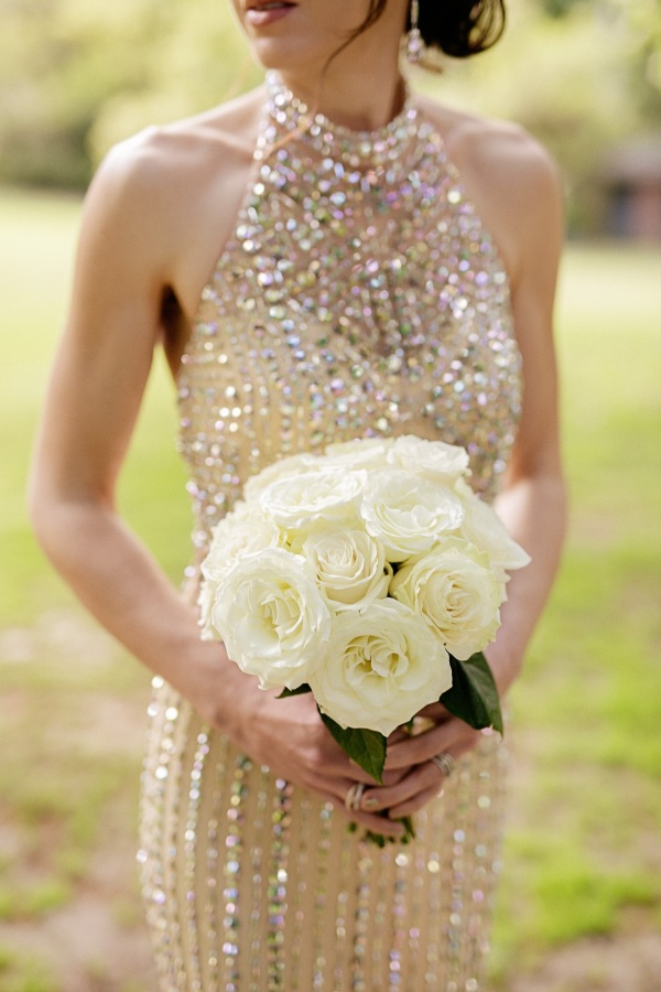 Champagne Sequin Bridesmaid Dress