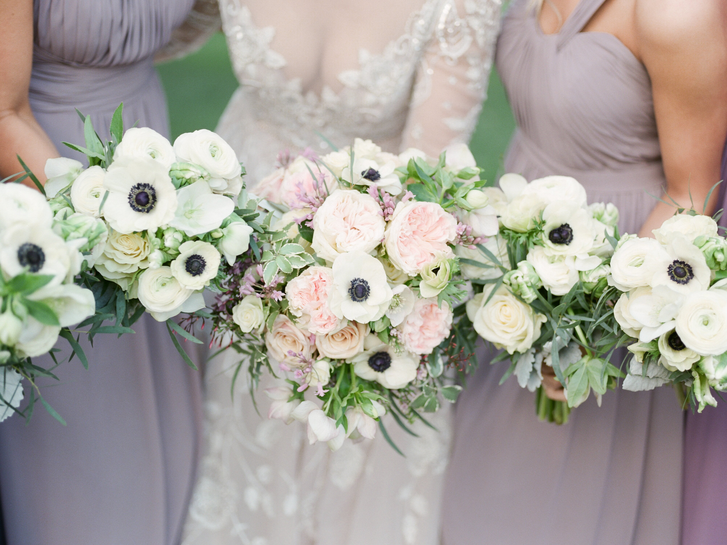 Lavender and White Spring Wedding Flowers