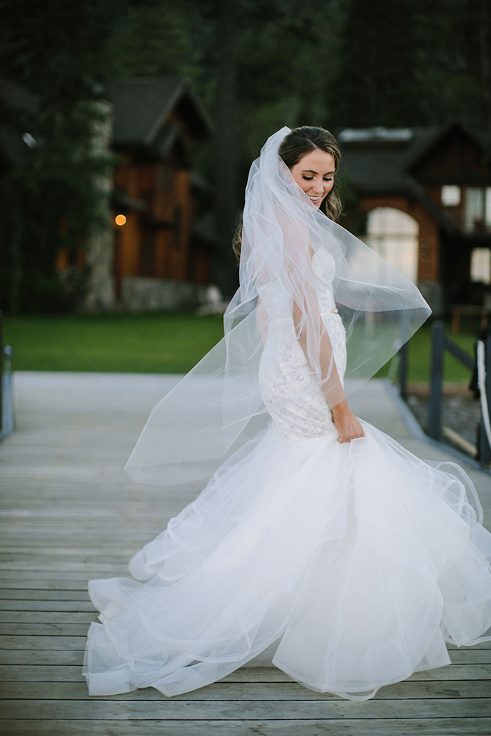 Lace Mermaid Hayley Paige Wedding Dress with a Cathedral Veil