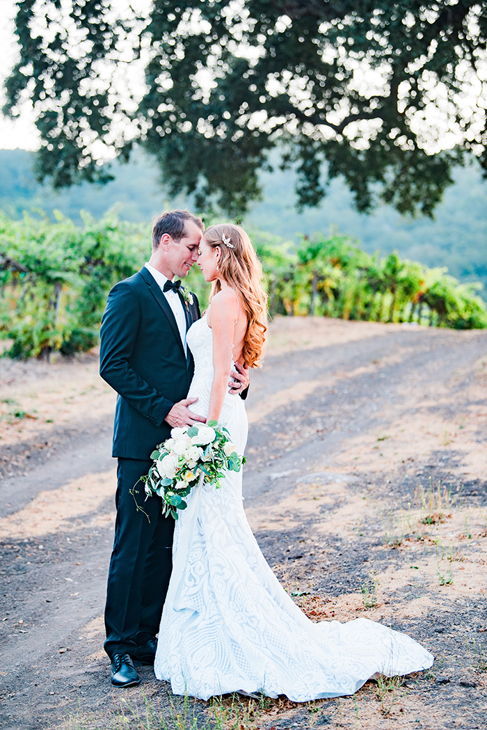 Romantic Winery Wedding with a Sequin Hayley Paige Wedding Dress