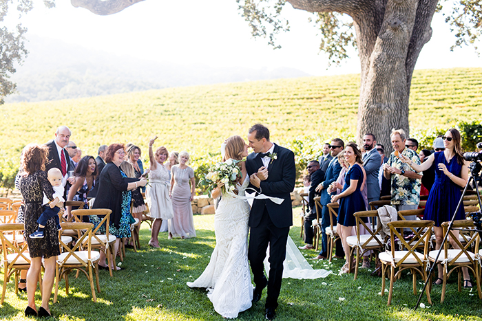 Romantic Winery Wedding Ceremony