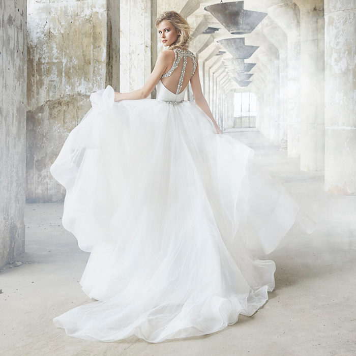 Convertible Two Piece Wedding Dress by Hayley Paige at Haute Bride