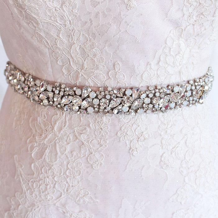 Haute Bride Crystal Wedding Dress Sash