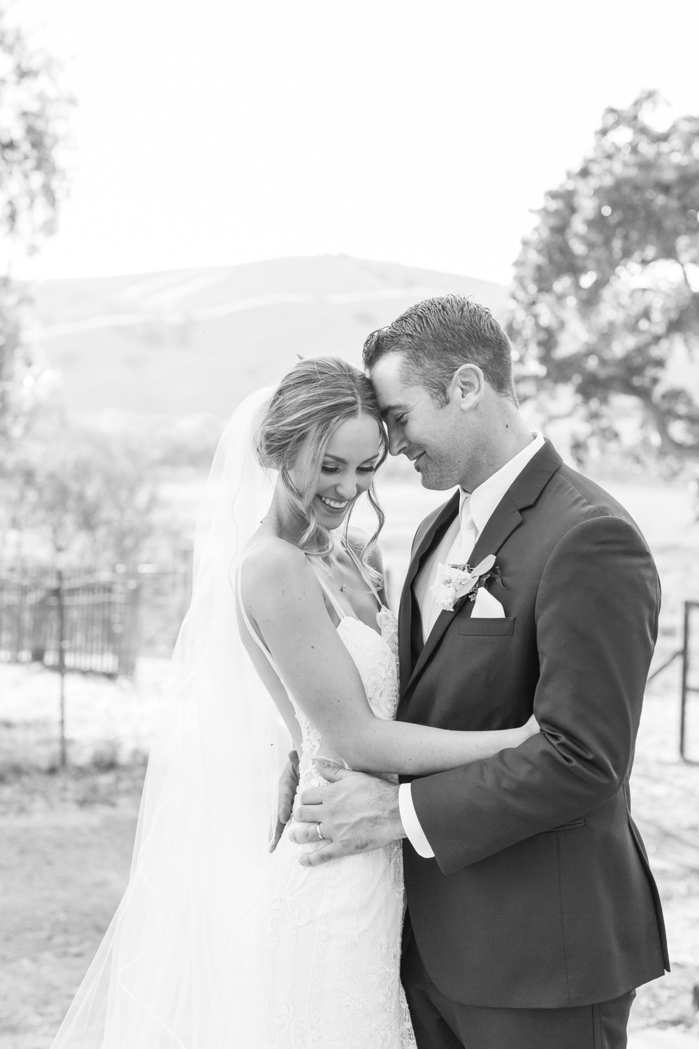 Black and White Wedding Photos for a Ranch Wedding in California