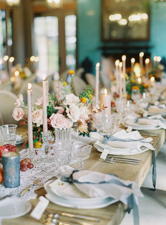 Elegant Farmhouse Wedding Reception