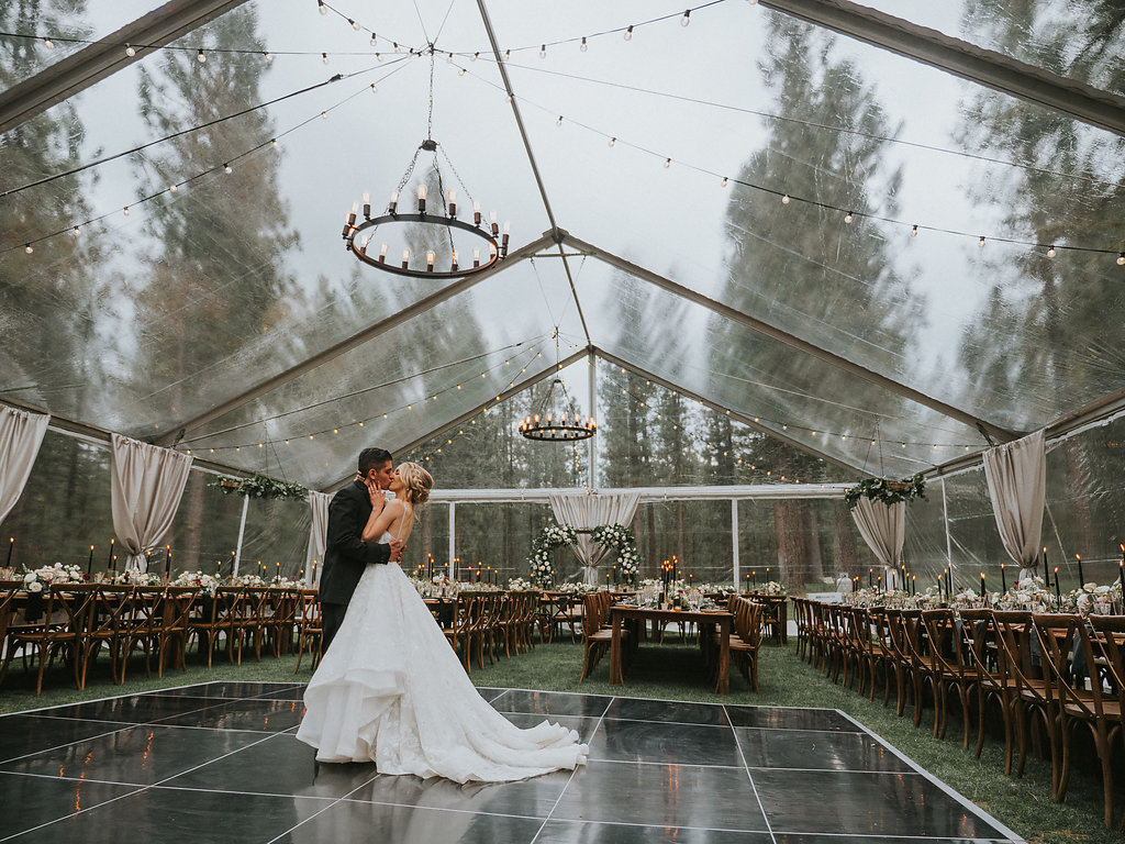Glam Adventure Wedding Reception with a Modern Princess Wedding Dress
