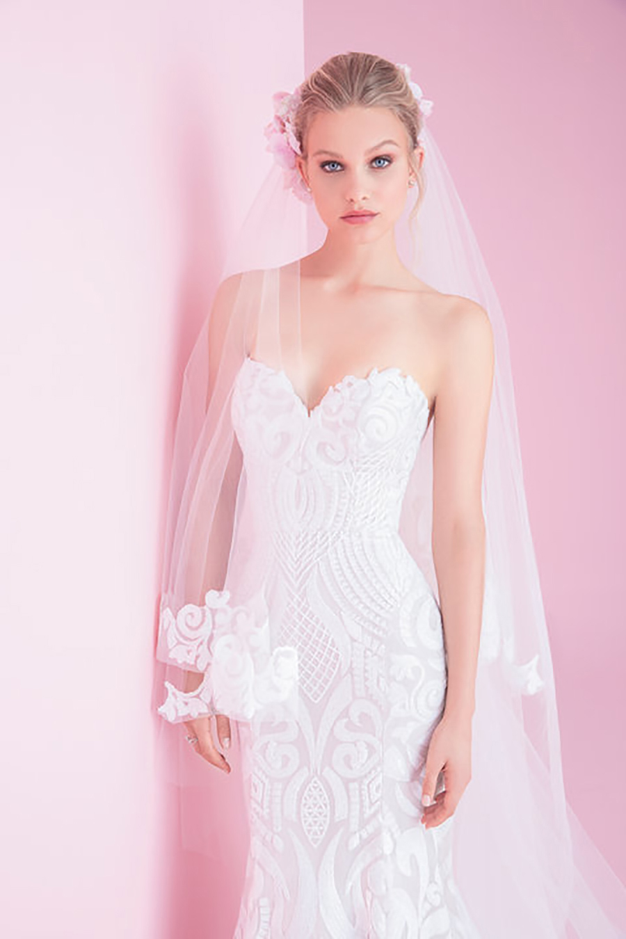 Blush by Hayley Paige Safyr Wedding Dress and West Veil