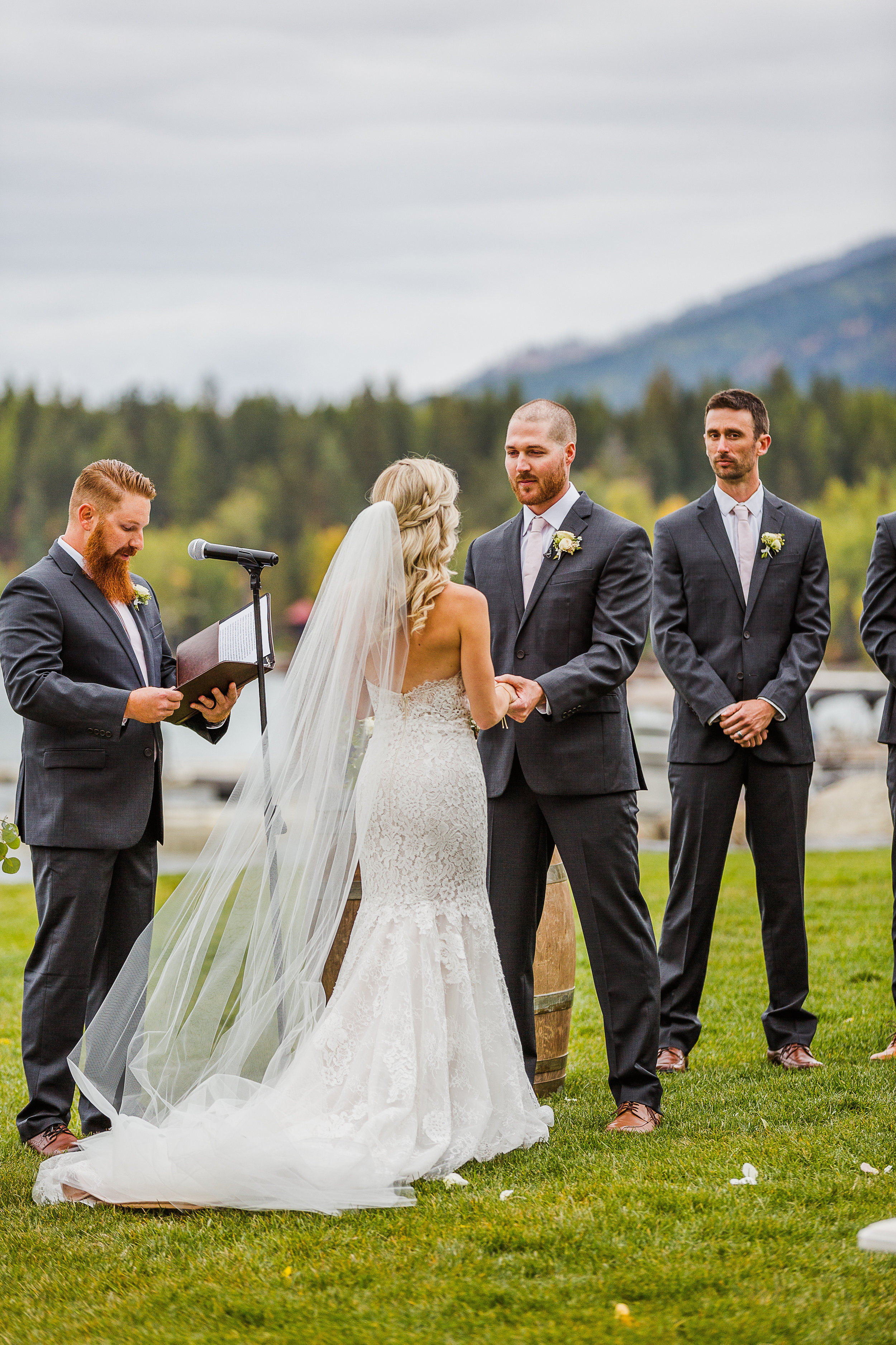 Montana Mountain Wedding with an Allison Webb Gown