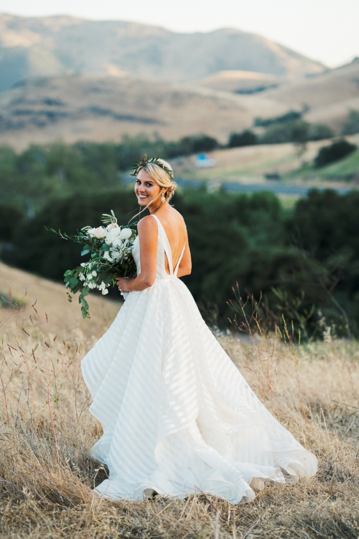 Rustic Chic Bride in Hayley Paige Decklyn Dress