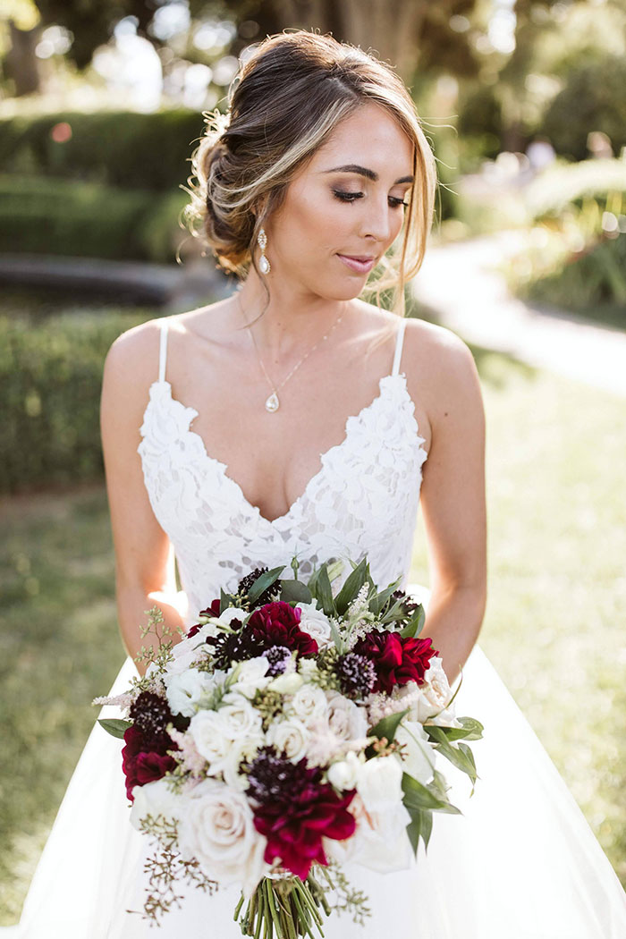Jewel Tone Wine Country Bridal Bouquet