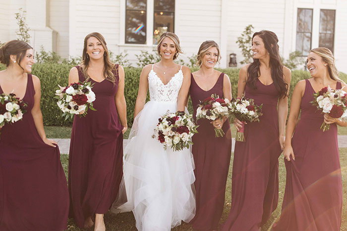 Wine Colored Bridesmaid Dresses
