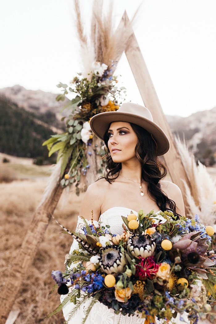 Bachelorette Becca Kufrin's Boho Bridal Style Rue De Seine Wedding Dress and Haute Bride Accessories