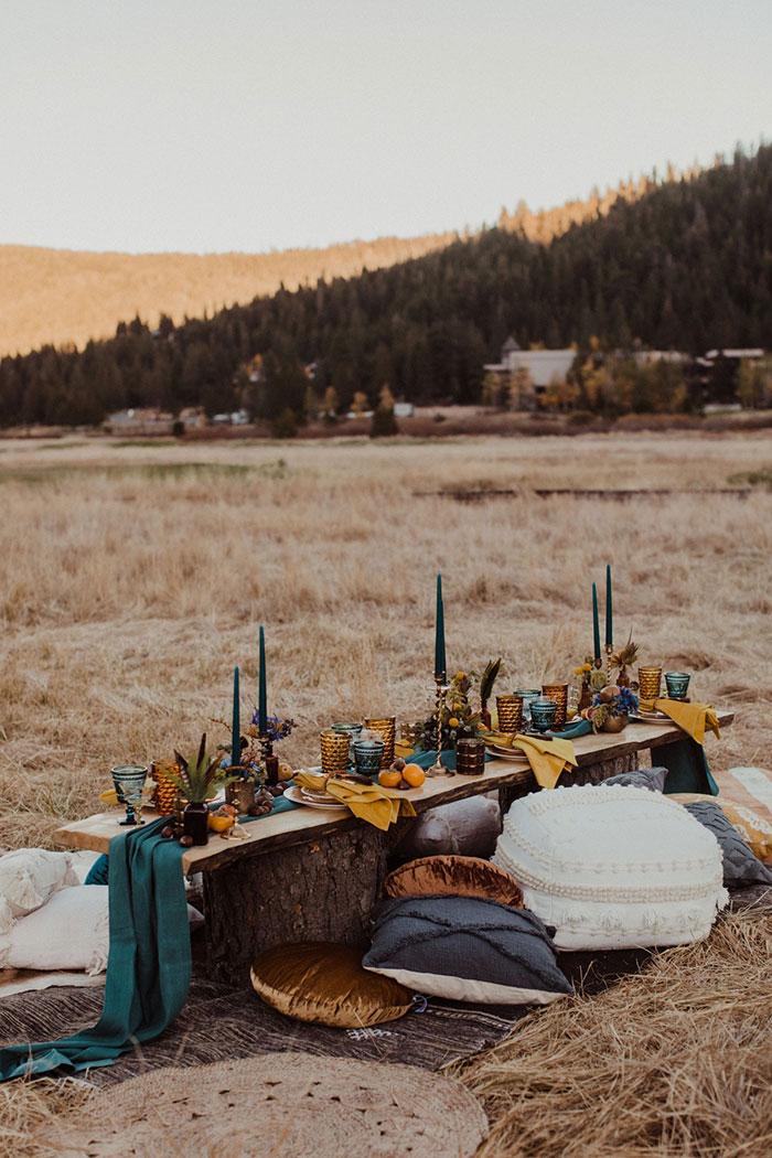 Bohemian Wedding Reception Inspiration