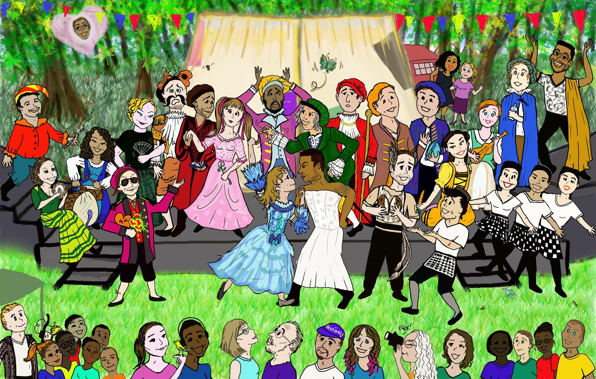 Taming of the Shrew, by Marca Leigh, Dandelion & Cast Member © 2016