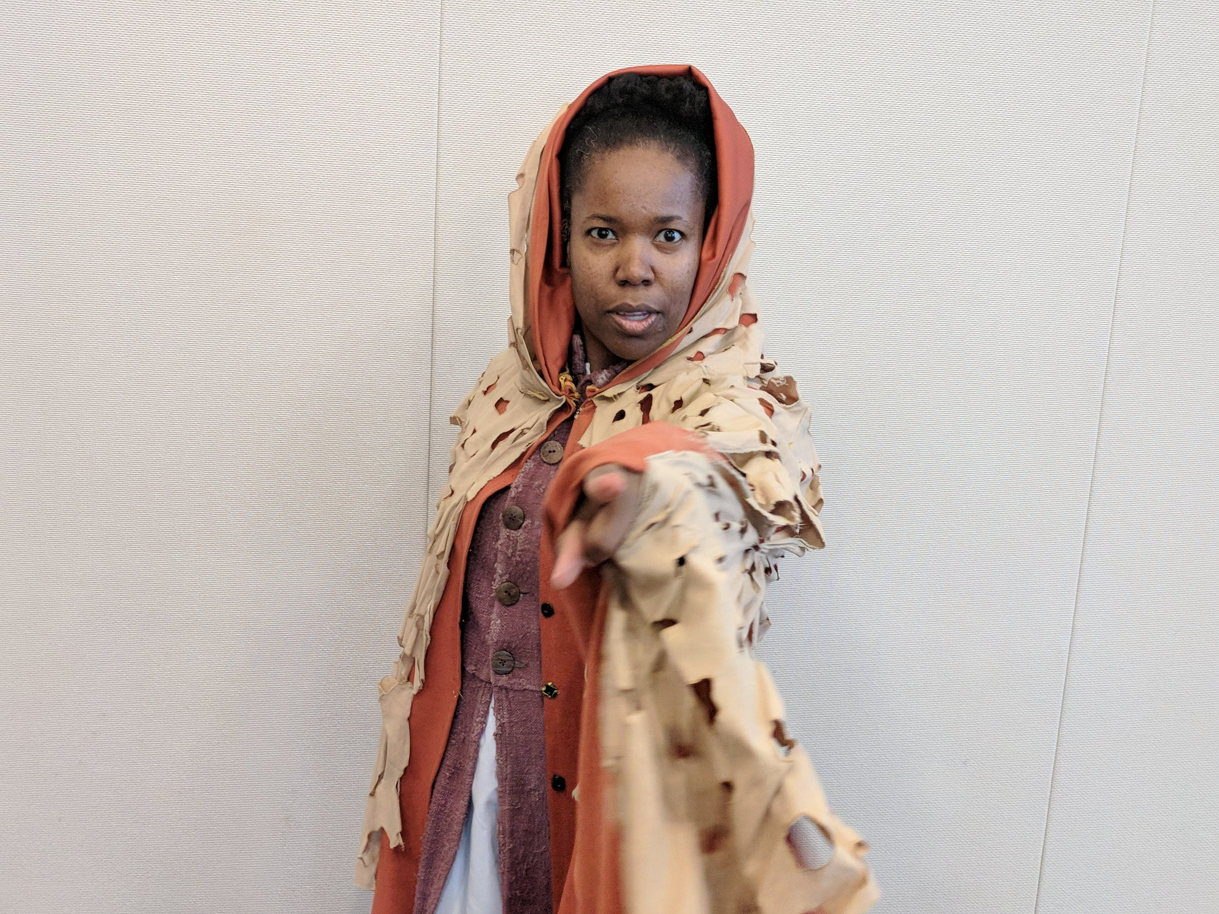 "Channie Waites as ""Prospero"", Photo by: CT Free Shakespeare"
