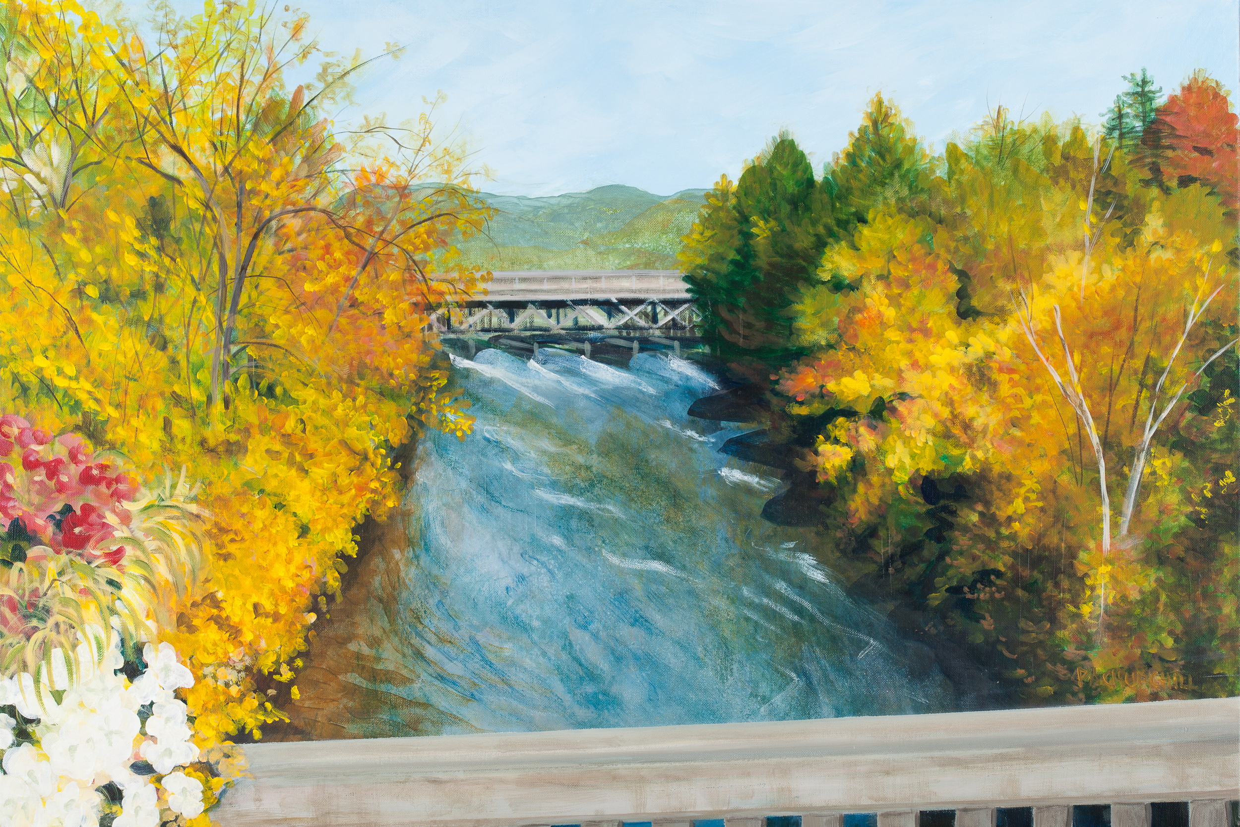 "The Saugeen River From The Durham Bridge  24""x36"" Acrylic"