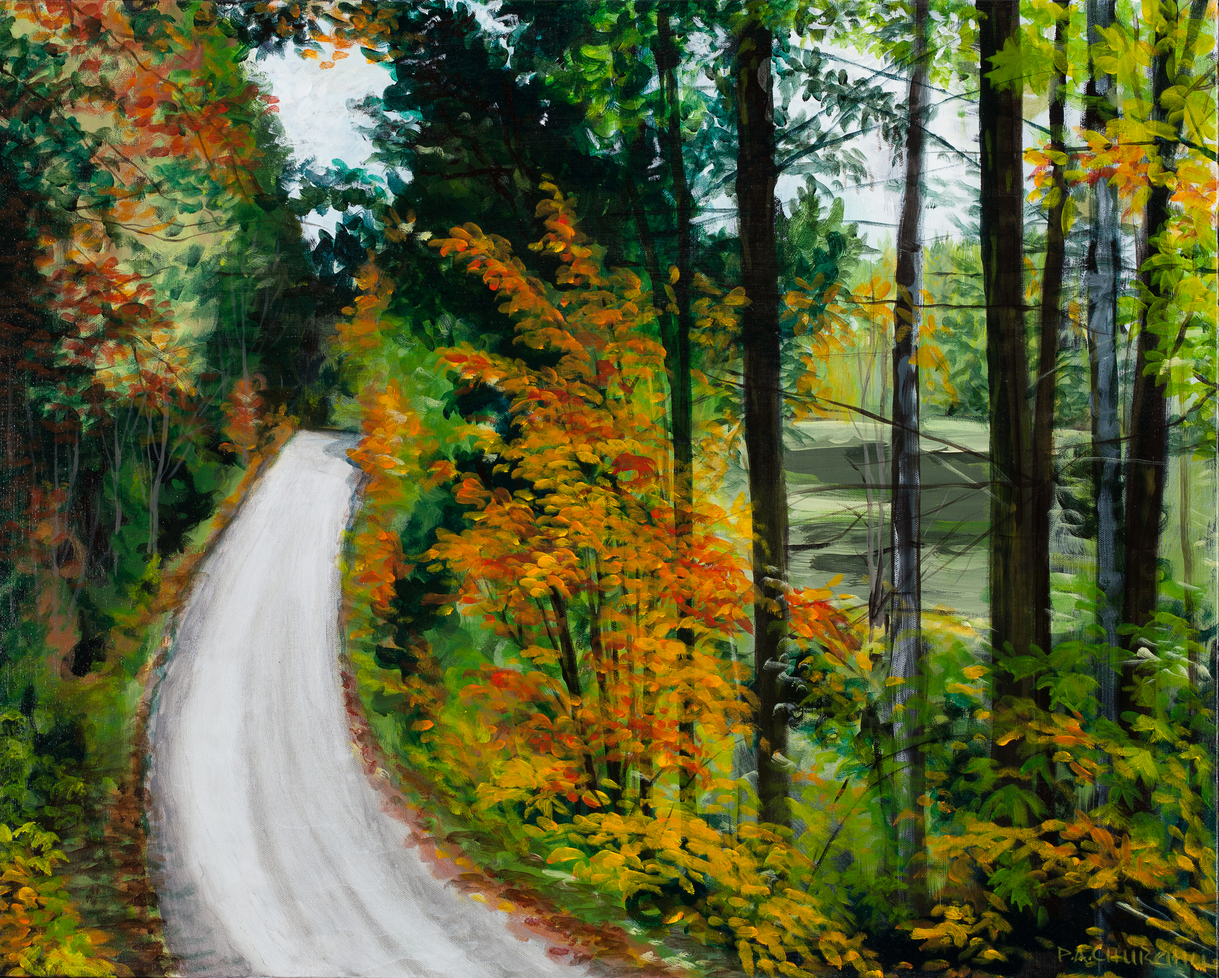 "Autumn Back Road Kinghurst  24""x30"" Acrylic"