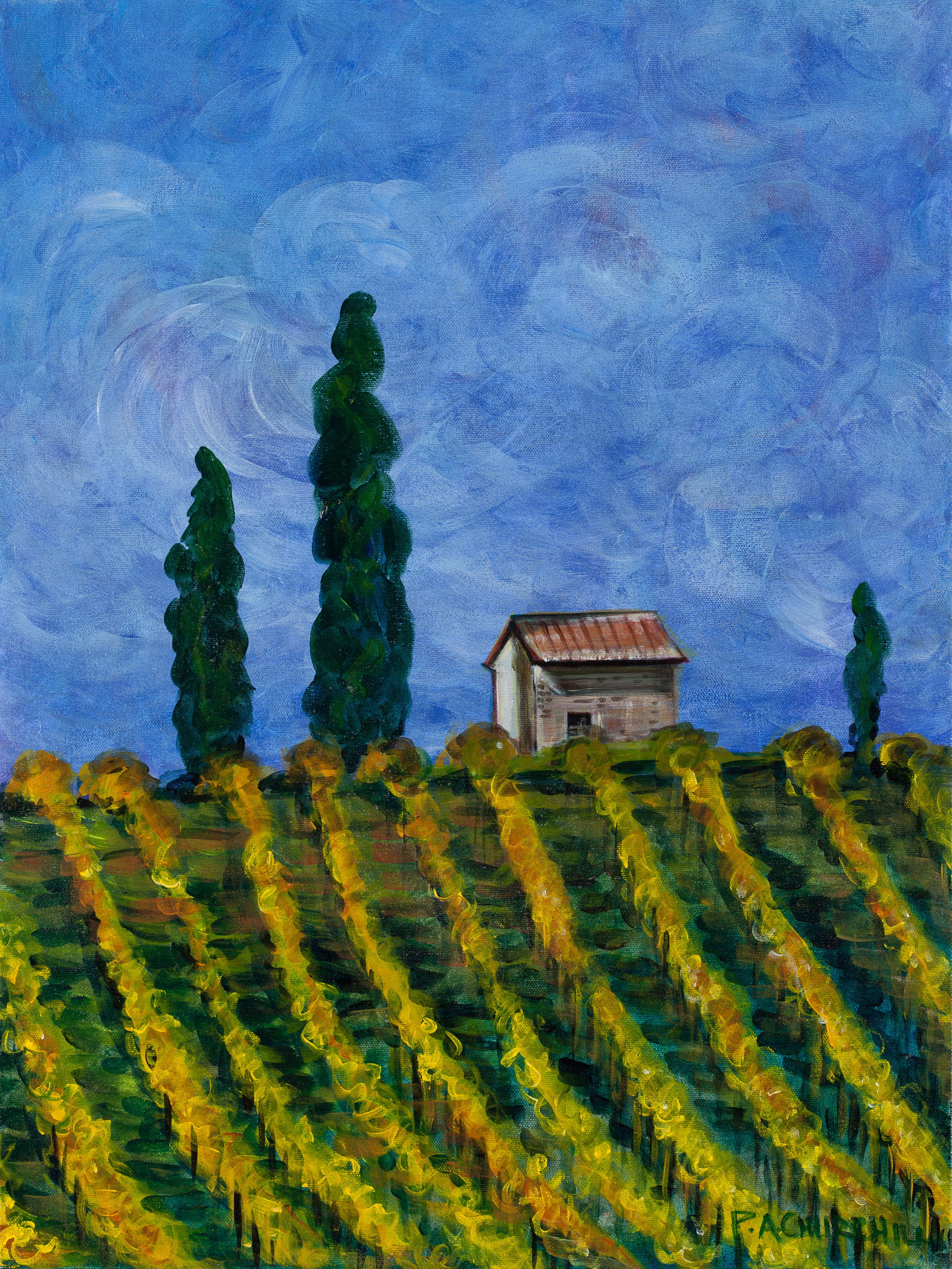 "Row After Row Tuscany  18""x24"" Acrylic SOLD"