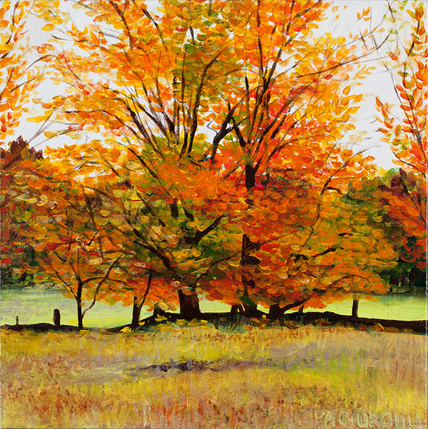 """Say Goodbye To Summer 12""""x12"""" Acrylic $125.00 SOLD On Exhibit at the Collingwood Library"""