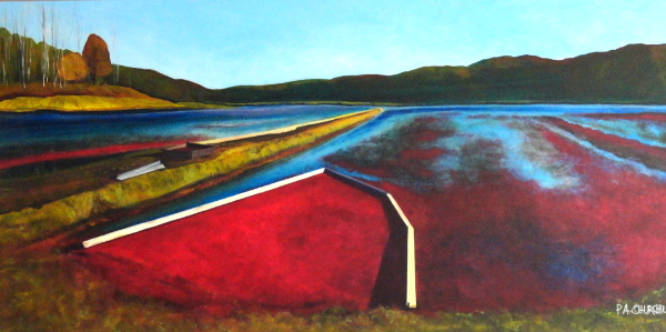 "A Boggy Day In Bala 24""x48"" Acrylic $875.00 On Exhibit at the Collingwood Library Until October"