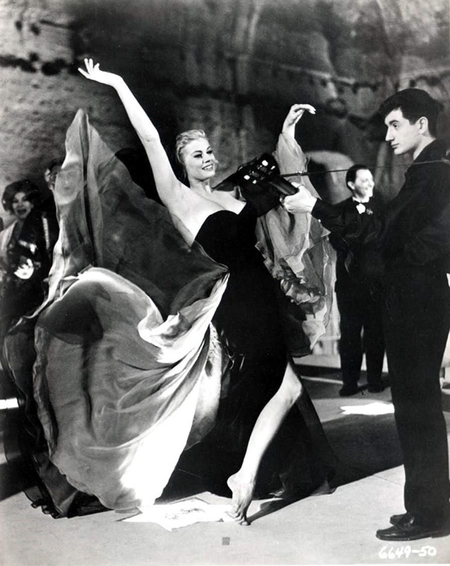 Anita Ekberg in  La Dolce Vita , 1960, dir. Federico Fellini.