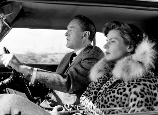 Ingrid Bergman,  in Viaggio in Italia  (1954), dir. Roberto Rossellini.