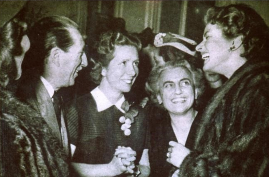 Fernanda Gattinoni and Ingrid Bergman, Rome.