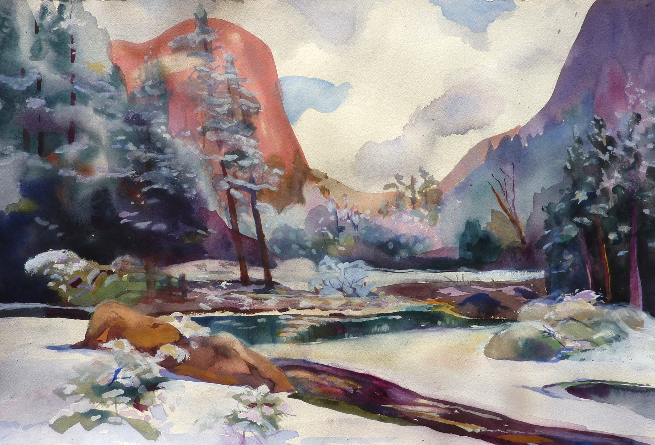 Mirror Lake, Winter, Yosemite
