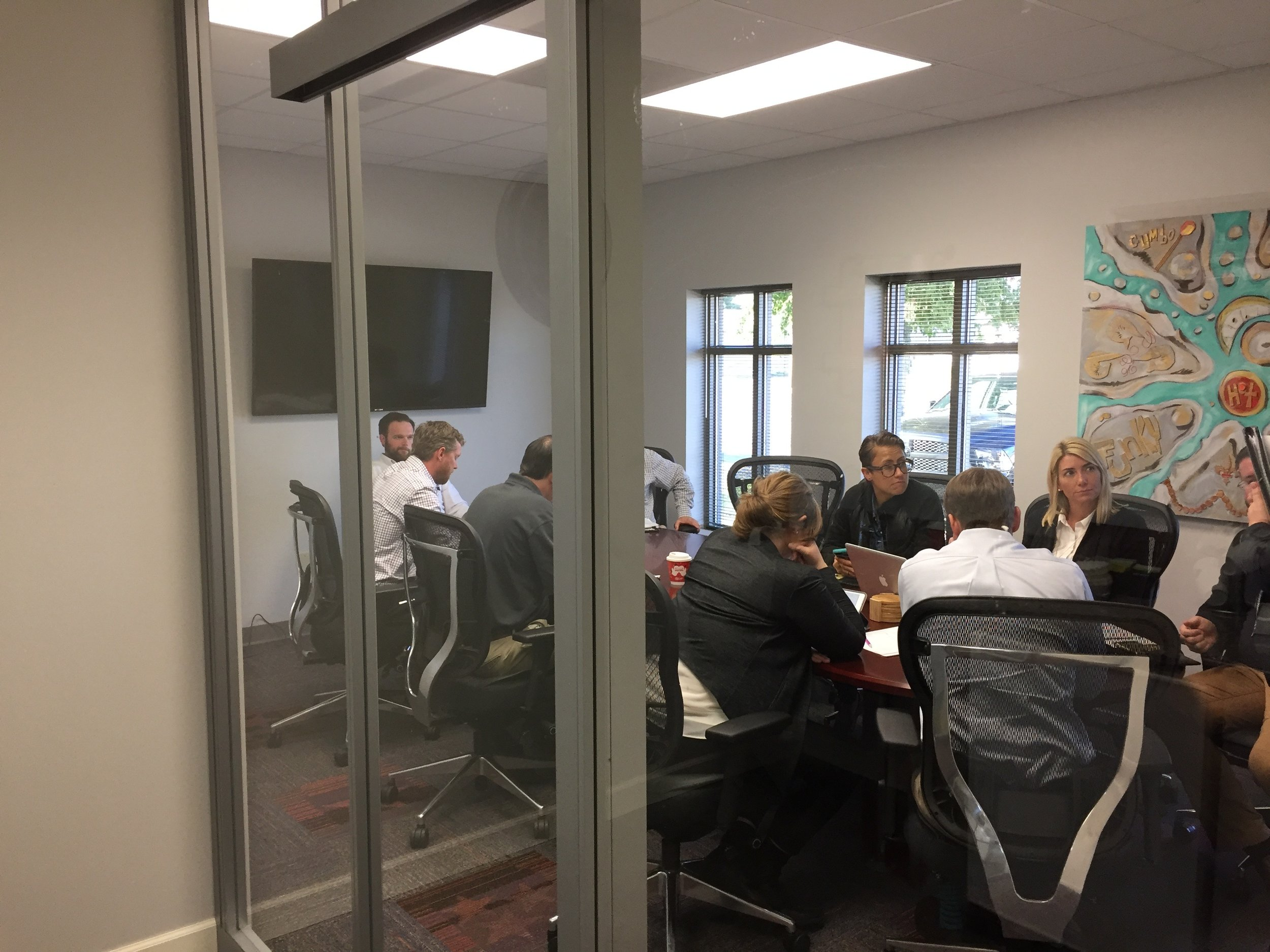 Another breakout session in our large conference room.