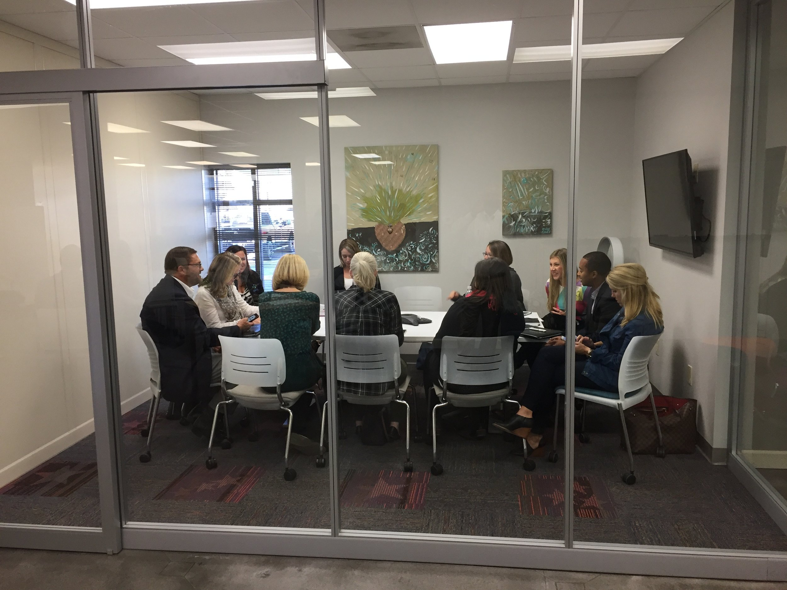A breakout session in one of our small conference rooms.