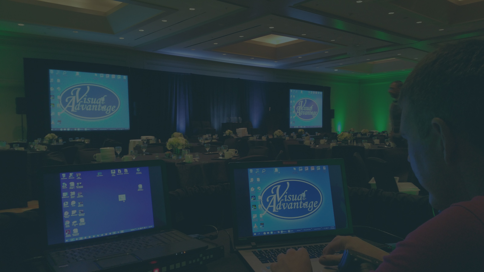 ON-SITE TECH SUPPORT - Our Tech(s) will stay and operate the equipment during your event. We travel throughout Florida for any large event where our technicians are needed.
