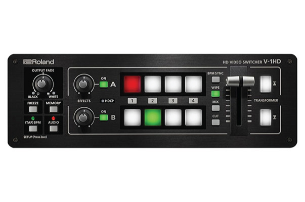 HD Video Switchers - These production switchers allow you to show the same video or presentation on up to four devices (projectors or flat screen tvs). Our Roland switchers can take up to four laptops for complex events where switching is required.