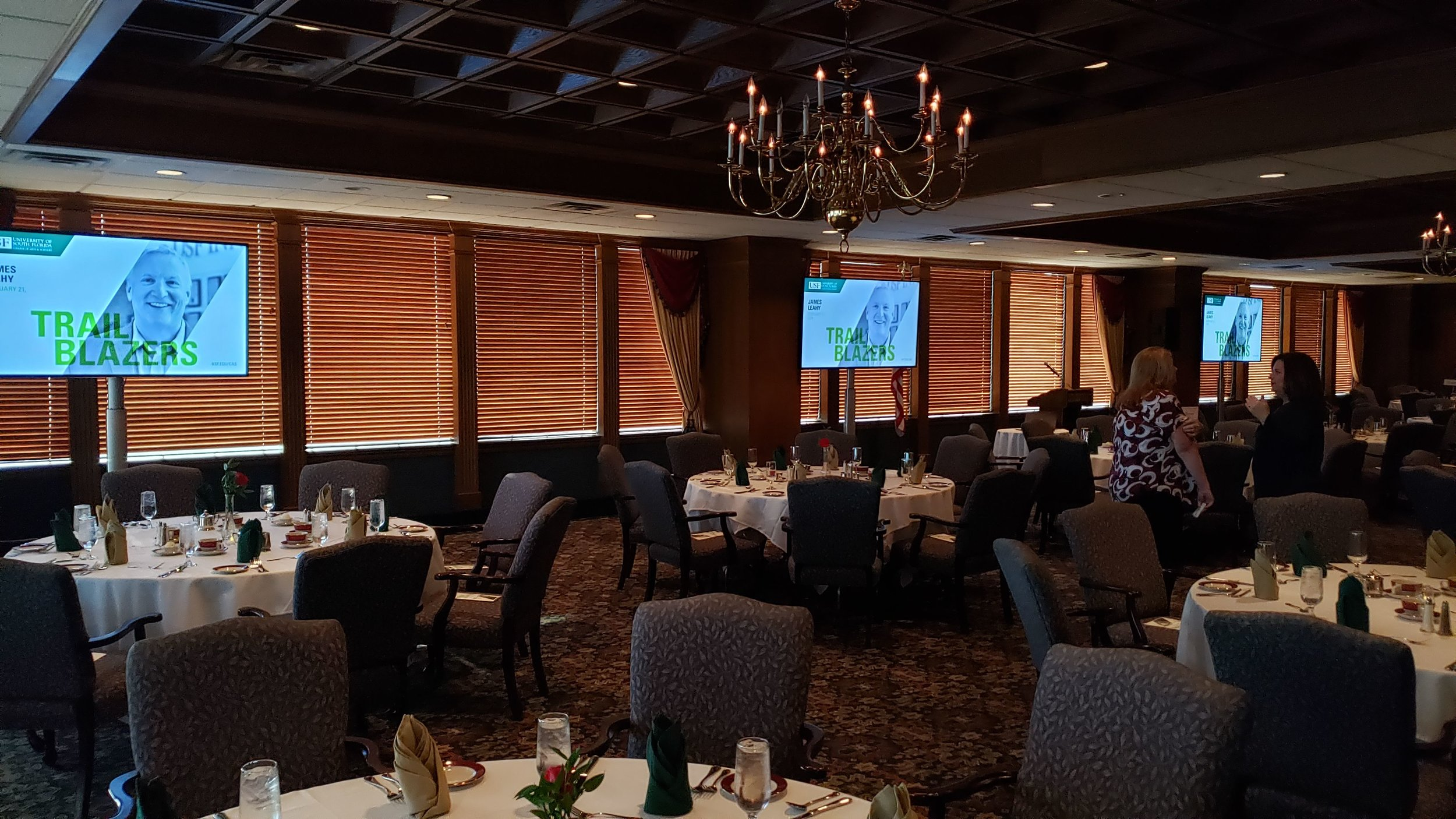 75-Inch Flat Screen TV's on Stands - 2019 USF Donor Dinner Program.jpg
