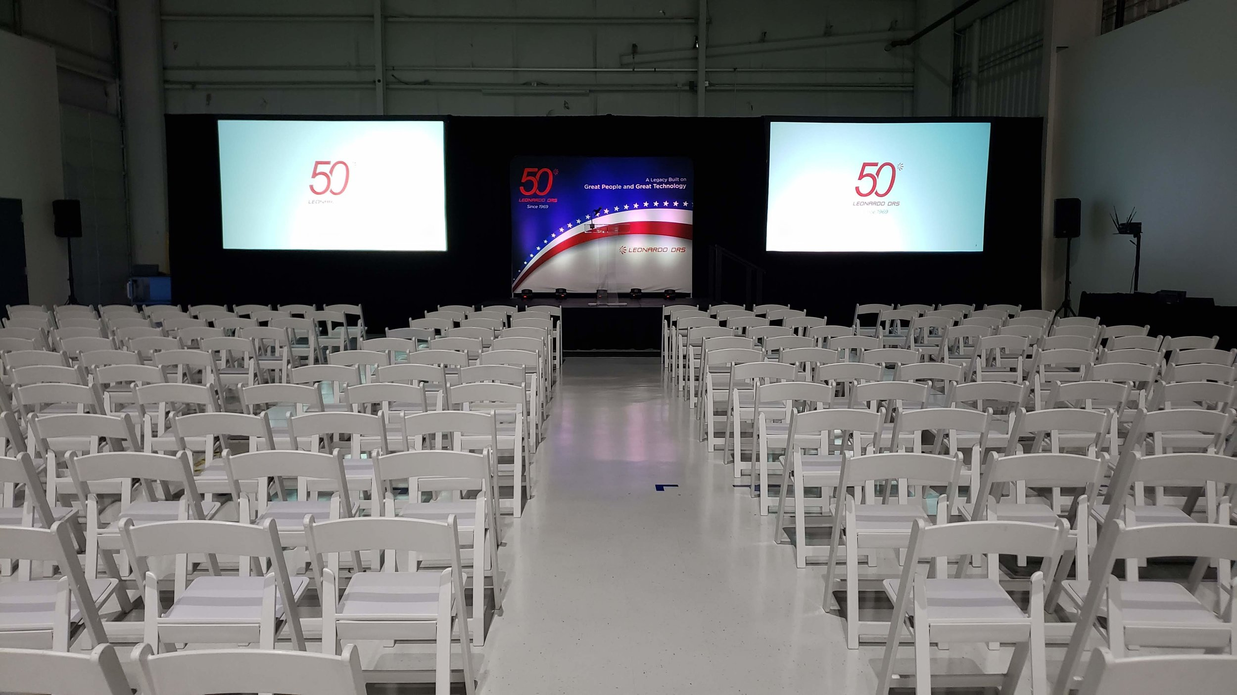 Two 10ft Wide Projection Screens with Pipe and Drape.jpg