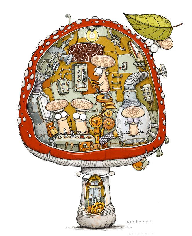 Aliens inside mushroom 2