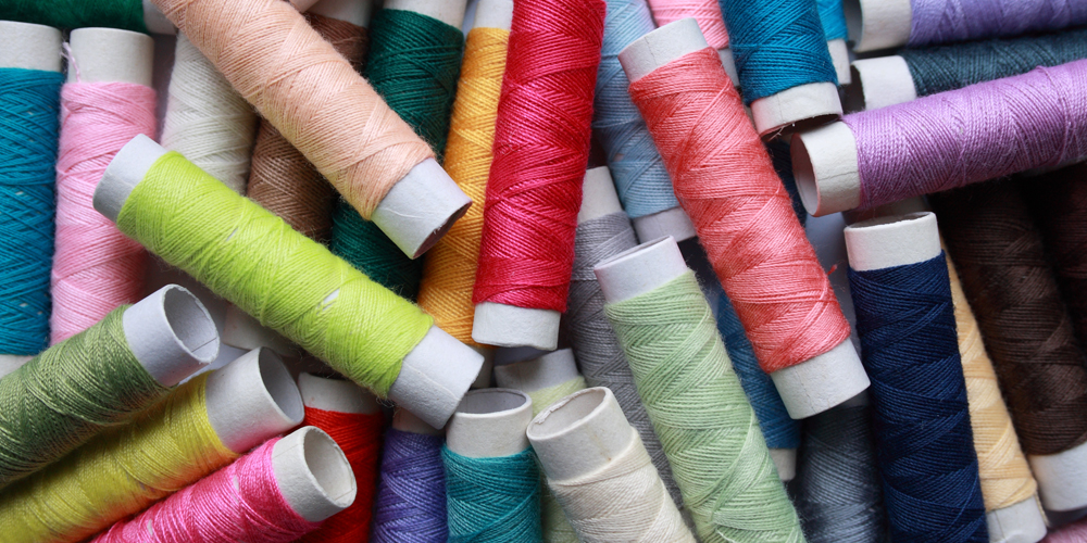 A pile of thread, the Sew What cafe, Ealing