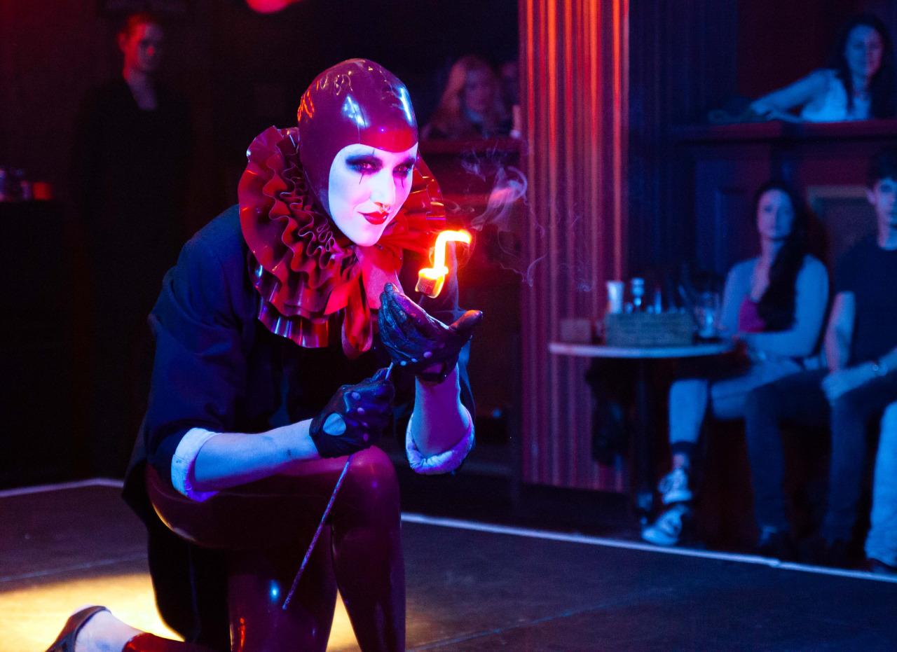 A performer at The Aeronaut pub, Acton, Ealing