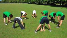 Group of people exercising at Quit the Gym, Ealing
