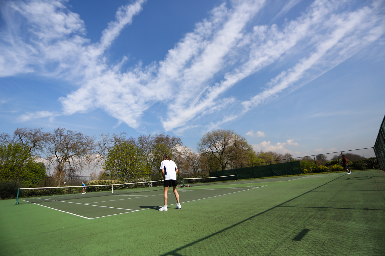 Tennis match at Will To Win, Ealing
