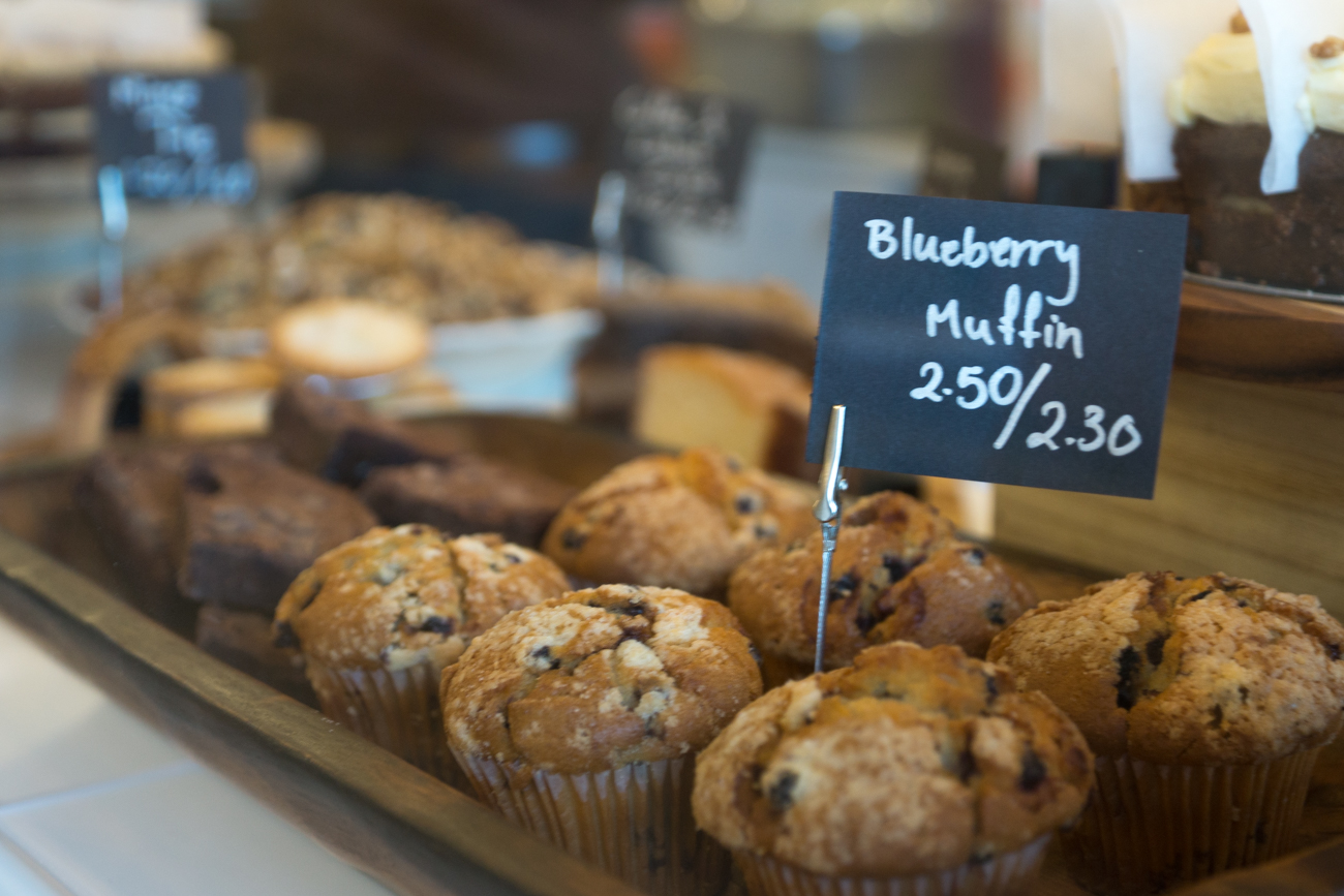 A selection of muffins and cakes at 11 Coffee & Co, Ealing