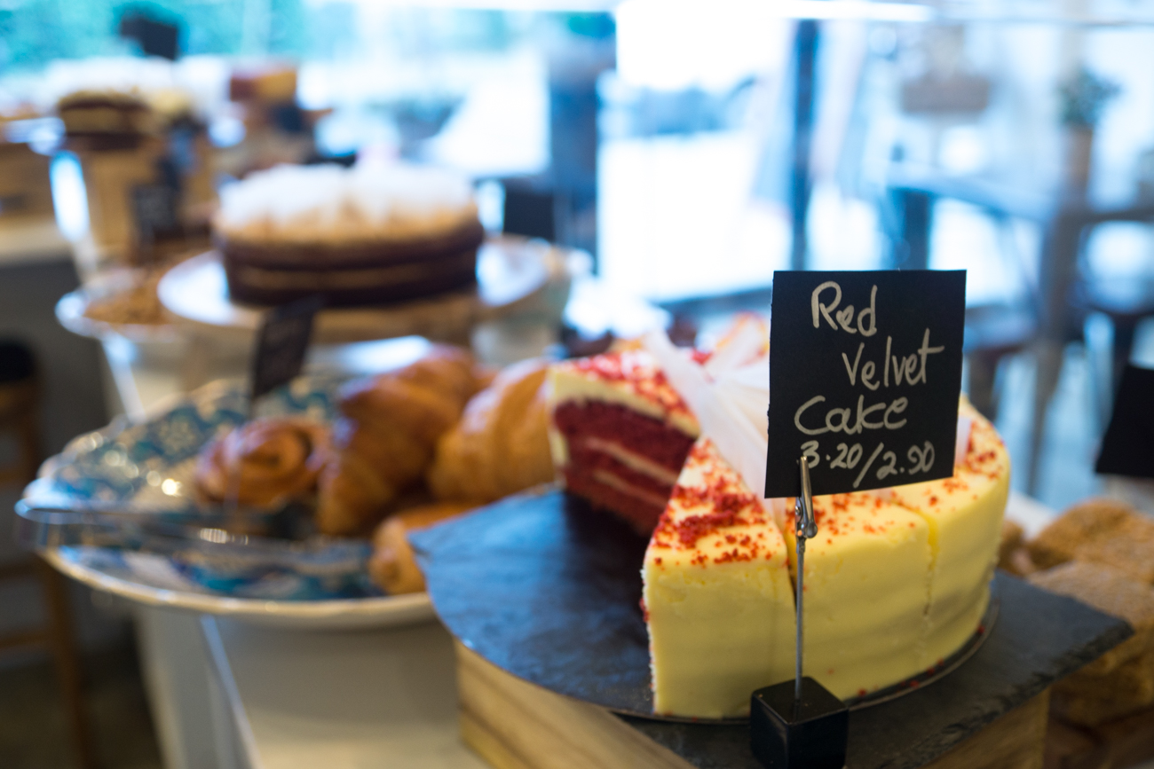Red velvet cake at 11 Coffee & Co, Ealing