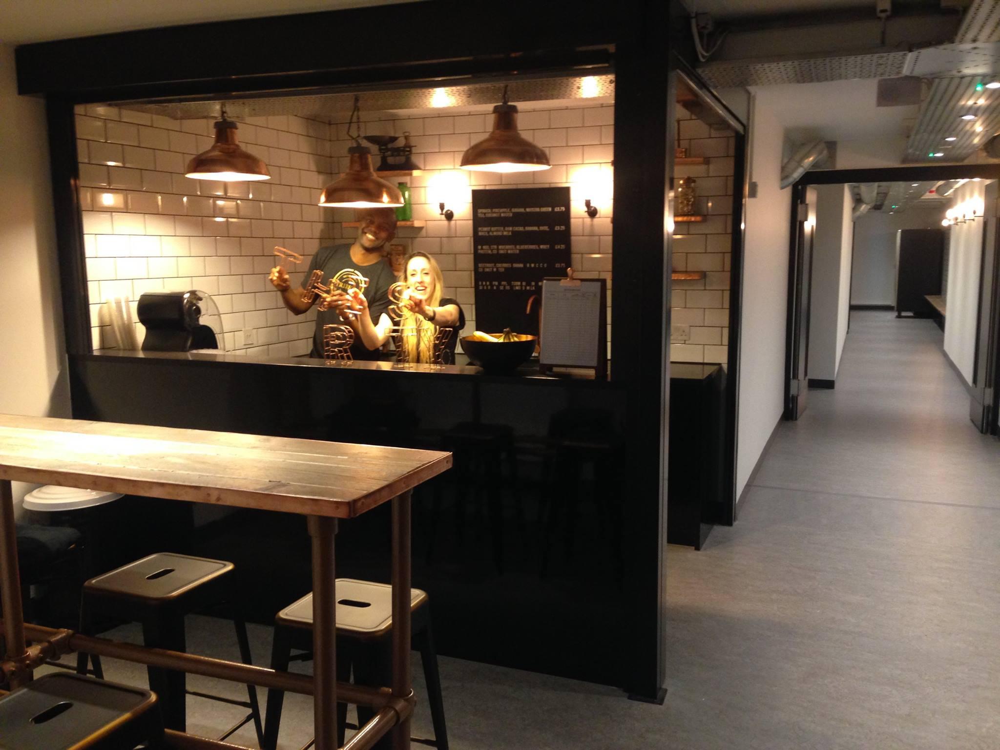 Smoothy bar at Tribeca Studio, Ealing