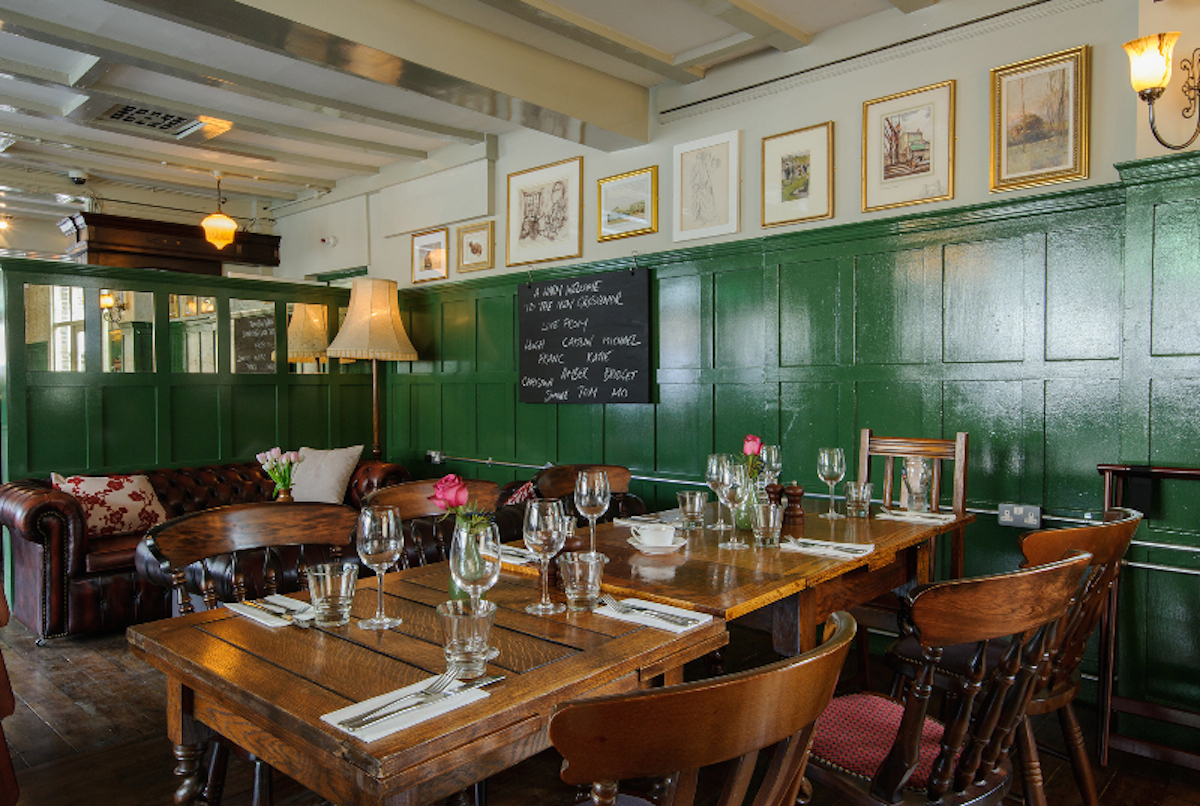 Seating are at The Grosvenor pub, Hanwell, Ealing