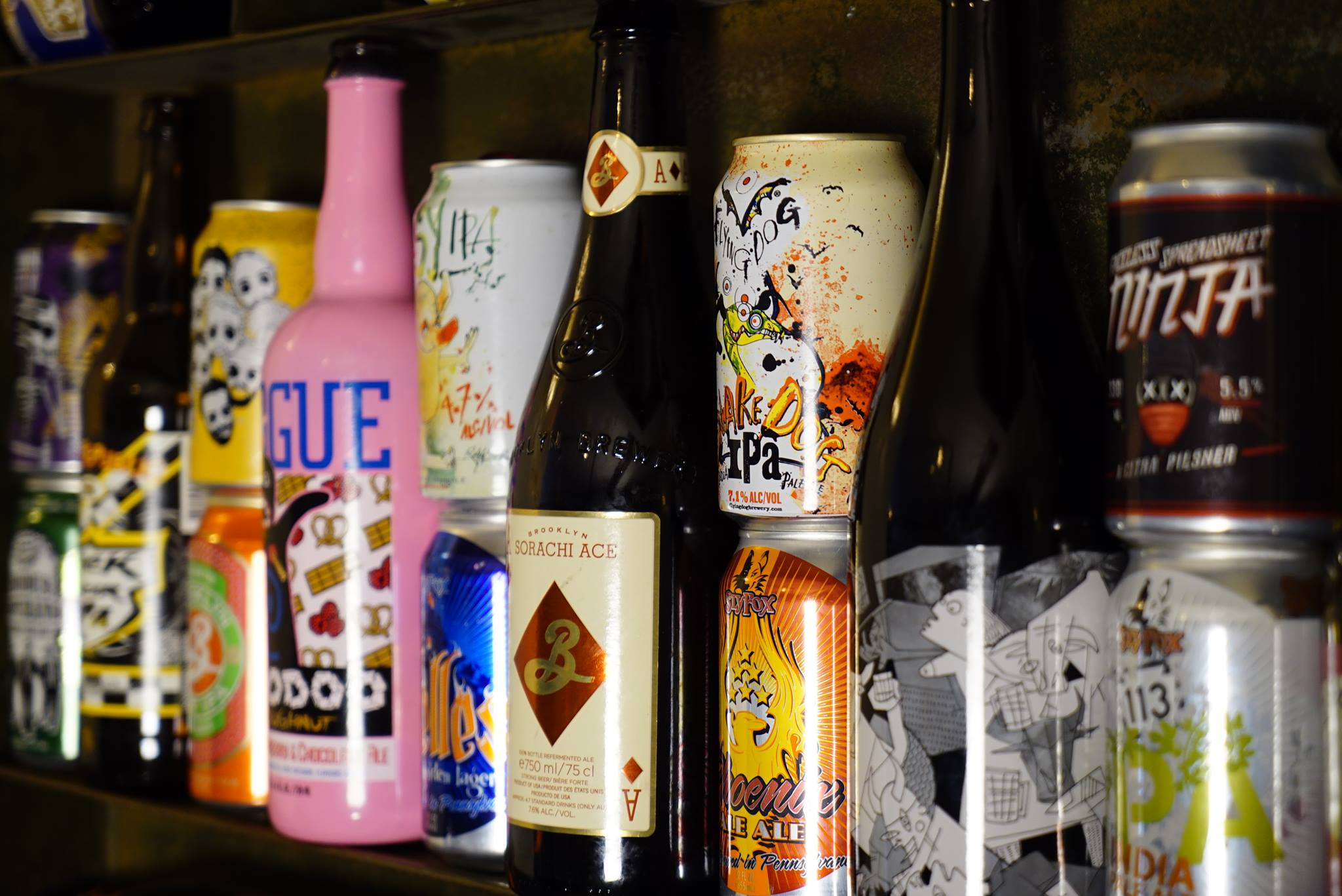 Craft beer selection at The Star & Anchor pub, West Ealing
