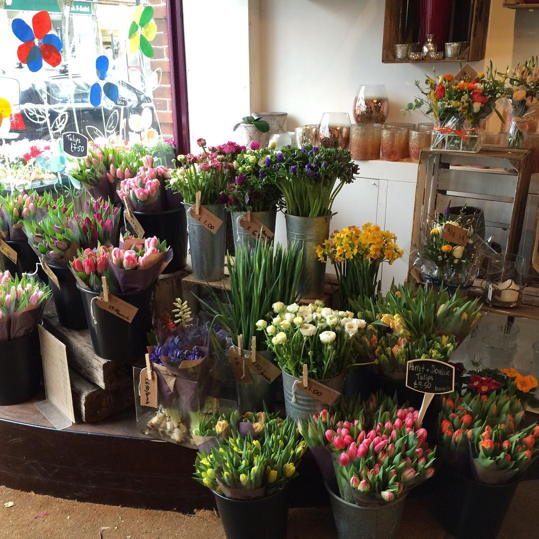 Selection of flowers from Stems Flower Gallery, Pitshanger Lane, Ealing