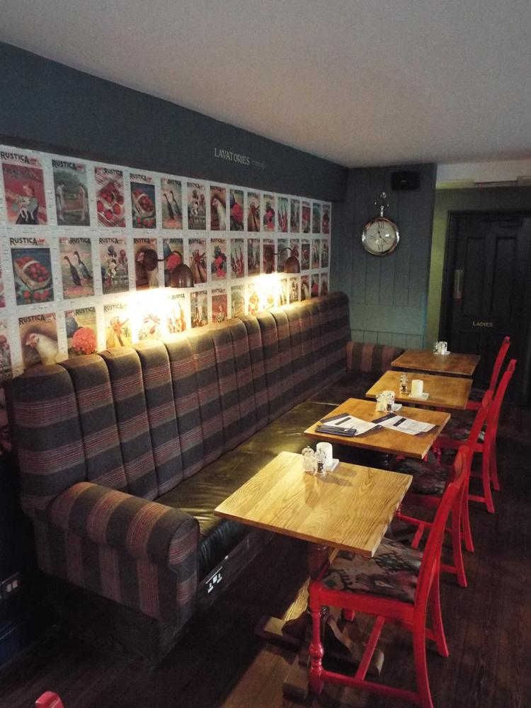 Seating area at The Village Inn pub, Pitshanger Lane, Ealing