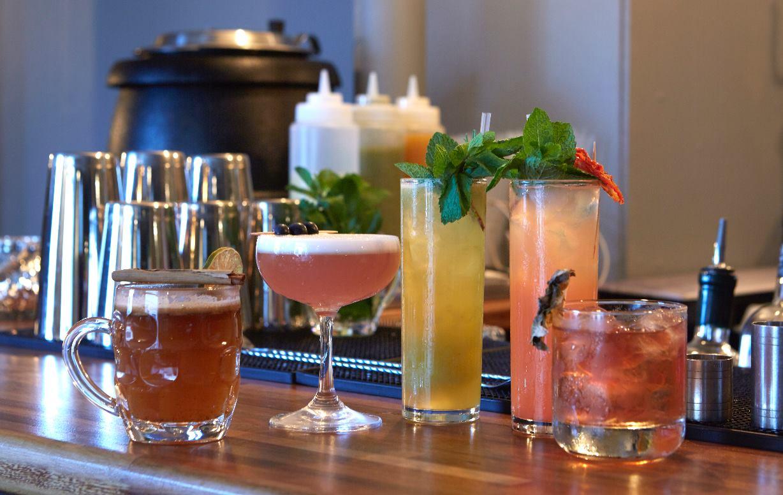 Cocktails at The Weir pub, Brentford